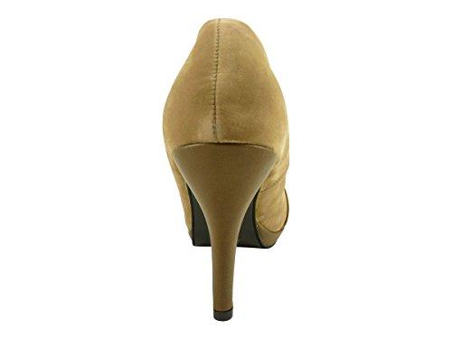 Hauts Escarpins Plat Noeud Talons et Femme à Suédine Taupe Chaussmaro Chaussures Hwxqf85
