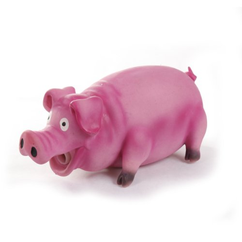 Knight Pet Pig Latex Toy with Real Squeak, Pink, My Pet Supplies
