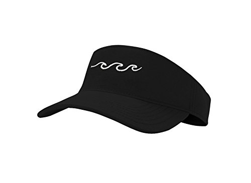 Wave Visor - Jinniee Sun Visors Hats Classic Unisex 100% Cotton Cool Sporting Visior with Small Embroidery - Best Visior for Running, Workouts and Outdoor Activities (Waves Beach)