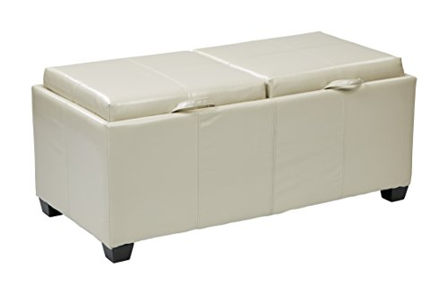 INSPIRED by Bassett Bedford Storage Ottoman, Cream