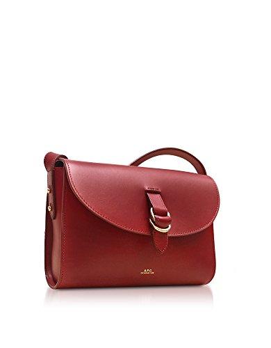A.P.C. Damen PXAWVF61222GAA Rot Leder Schultertasche