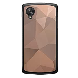 Loud Universe Nexus 5 Geometrical Printing Files A Geo 46 Printed Transparent Edge Case - Brown