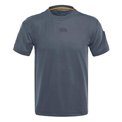 FONMA Men Loose Tactical Short Sleeve Elastic Quick Dry Training T-Shirts Tops Blouses