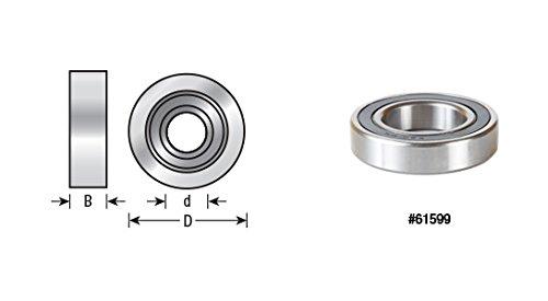 UPC 738685616123, Amana Tool 61612 Insert Shaper Cutter 105mm D x 16mm Height Aluminum Rub Collar