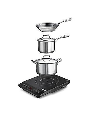 Amazon.com: Tramontina 6 pieza portable Cooktop Inducción ...