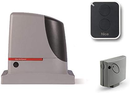 Nice RUN 1200 HS (RUN1200HS motor + SMXI receptor + ON2E transmisor) motorreductores electromecánicos para el accionamiento rápido de puertas correderas de hasta 1200 kg, 24 Vdc: Amazon.es: Bricolaje y herramientas