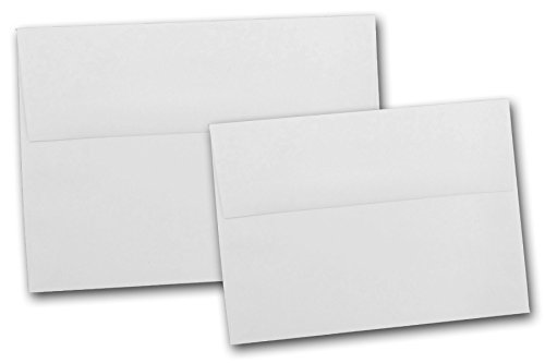 Crest Note Card - Neenah Classic Crest Solar White A6 Envelopes - 50 Pk