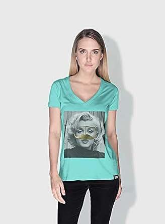 Creo Marilyn Monroe 3Araby T-Shirts For Women - M, Green