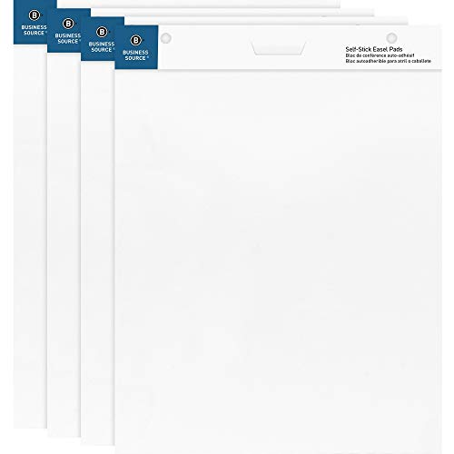 """Business Source 25""""x30"""" Self-Stick Easel Pads, 4/Pack (38592) from Business Source"""