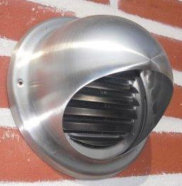 150 160/200/mm avec moustiquaire Grille de ventilation grille de protection en acier inoxydable V2/A M/ét/éo Boule 100/125