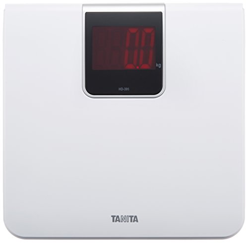 타니타 (Tanita) 체중계 디지털 대화면 LED 화이트 HD-395 WH 타는 것만으로 전원 켜기