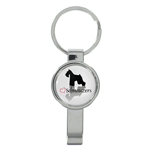 Stylish Schnauzers Cap Remover Keyring with Free Gift Box ()