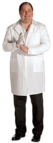Mad Scientist Plus Size Costumes (UHC Plain Lab Coat Medical Doctor Mad Scientist Outfit Adult Plus Size Costume, Plus (50-52))