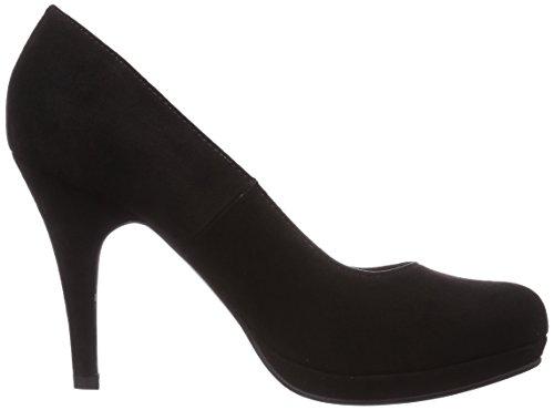 Tamaris 22407 - zapatos de tacón cerrados de lona mujer negro - negro