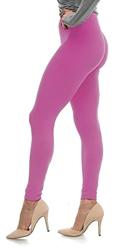 Lush Moda Extra Soft Leggings - Many Colors - Spring Azalea - One Size