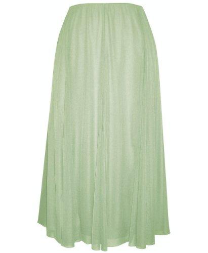Plus Size Sage Rage Skirt --Size: 1x Color: Sage