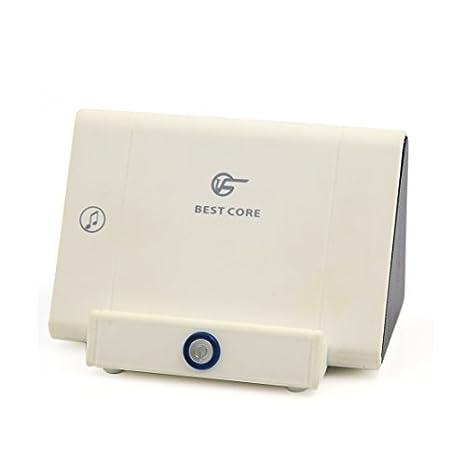 eDealMax USB Blanca Universal amplificador estéreo recargable altavoz inalámbrico por inducción