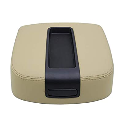Ezzy Auto Beige Center Console Lid Armrest Cover for Chevy Avalanche Silverado Tahoe GMC Yukon XL Sierra 2007 2008 2009 2010 2011 2012 2013 2014: Automotive