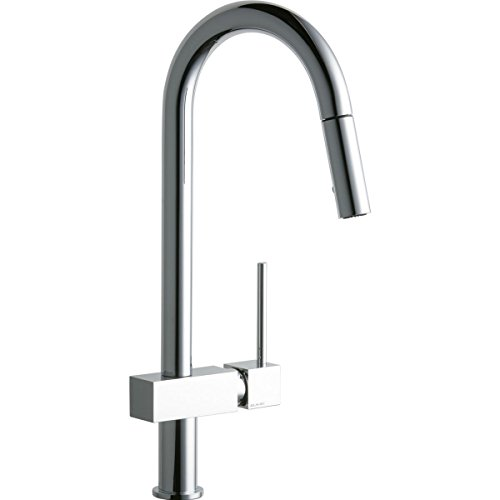 Elkay LKAV1031CR Avado Single Hole Kitchen Faucet with Pull-down Spray and Lever Handle, Chrome
