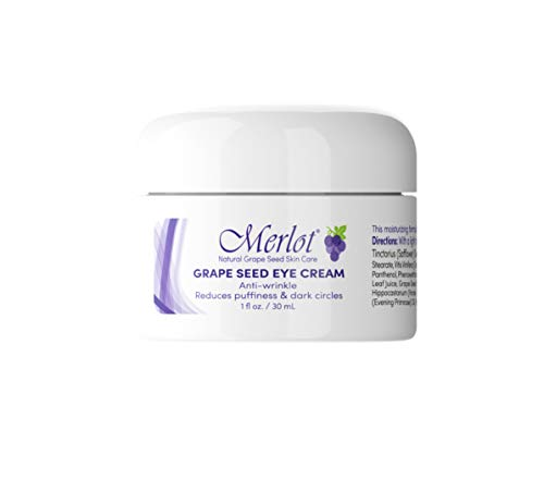 Merlot Eye-Cream | Made with Grape Seed Extract | Anti-Wrinkle| REDUCES puffiness | REDUCES Dark-Circles | 1.6 Ounces