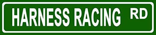 Makoroni - Harness Racing Hobbies Novelty Street Sign Aluminum Metal 4x18 ()