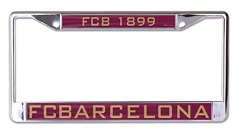 Barcelona Car - WinCraft FCB Barcelona 6x12 inch Inlaid Acrylic Metal License Plate Frame