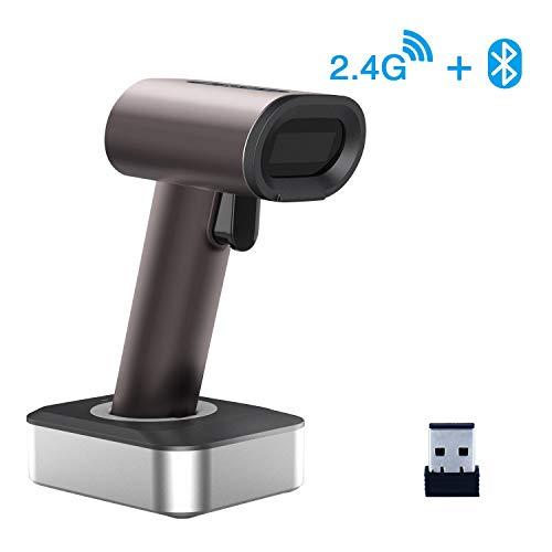1D 2D QR Bluetooth Wireless Barcode Scanner, Symcode 3-in-1 Bluetooth & 2.4GHz Wireless & Wired Connection, CCD PDF417…