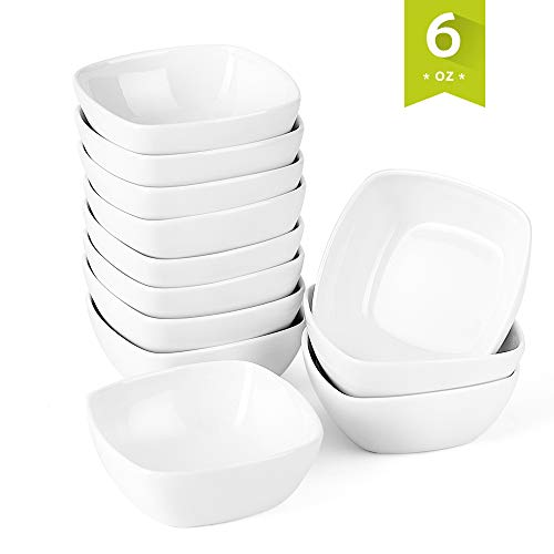 Malacasa 12 pieces Porcelain Ramekins 6 Ounce for Souffle Baking Dipping Dishes Cups, ()