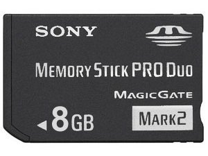 Sony 2 Duo - 8 GB Sony PRO DUO (Mark 2) Memory Stick for PSP