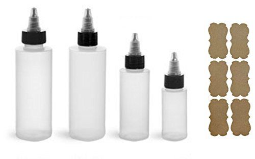 Squeeze Bottles With Twist Cap for Icing, Decorating, and Condiments (6 Pack, 4 oz.)