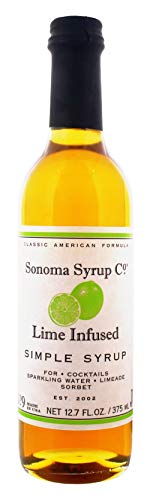 Sonoma Syrup Co Lime Infused Simple Syrup, 12.7 fl oz