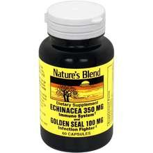 Golden Echinacea (Nature's Blend Echinacea and Golden Seal 60 Count Pack of 4)