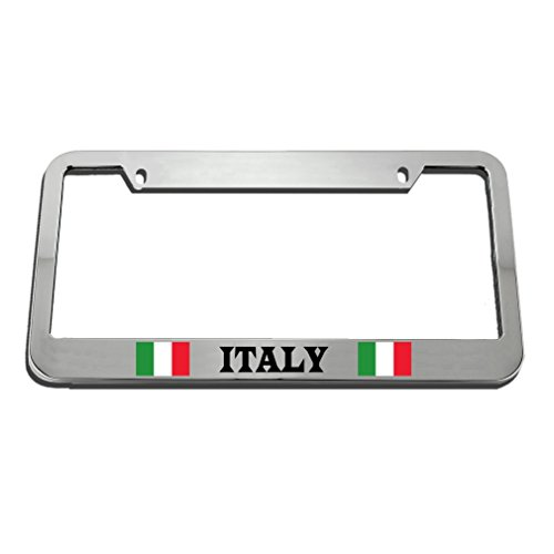 Speedy Pros Italy Italian Italiano Country License Plate Frame Tag Holder by Speedy Pros