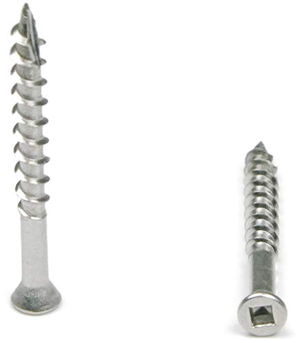 Square Drive Deck Screws Trim Head 305 Stainless Steel - #7 x 1