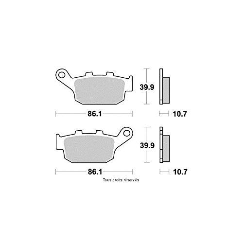 Kyoto Plaquettes de frein HONDA NX 650 DOMINATOR 1988-1988 Arri/ère