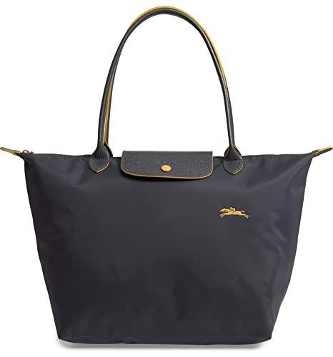 LongChamp Women's Le Pliage Gray Club Tote Large (Longchamp Large Tote Bag)