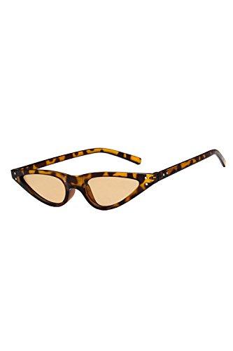 Sol Las Gafas Vintage Polarizadas Sol De Leopard Gafas No Marco Pequeño Cateye De vOrvBqxw
