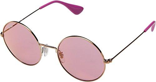 Pink Ray Ban Sunglasses (Ray-Ban Women's RB3592 JA-JO 50mm Shiny Copper/Pink Dark Mirror Red Sunglasses)