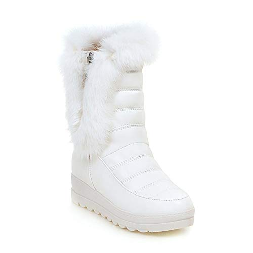 High Top With Lining Womens Winter Boots snow slip Non warm Outdoor Sx White Fur Boots Bootie qXfpw6nqxO