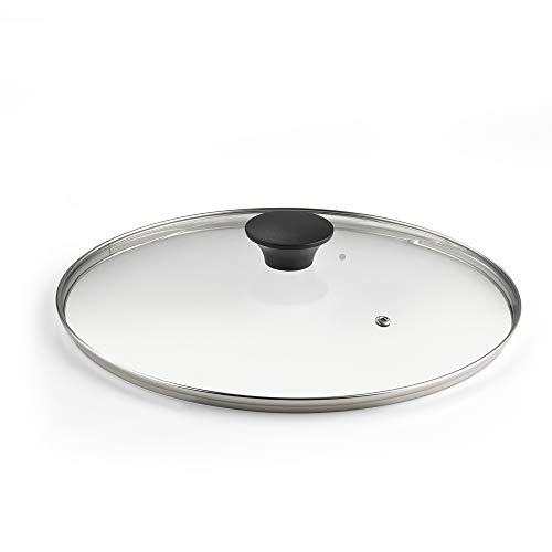 Cook N Home 02505 12-inch/30cm Tempered Glass Lid, Clear