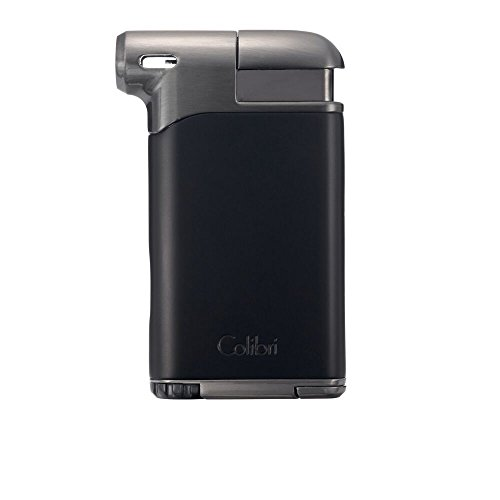 Colibri Pacific Air Soft Flame Lighter - Black - Gunmetal