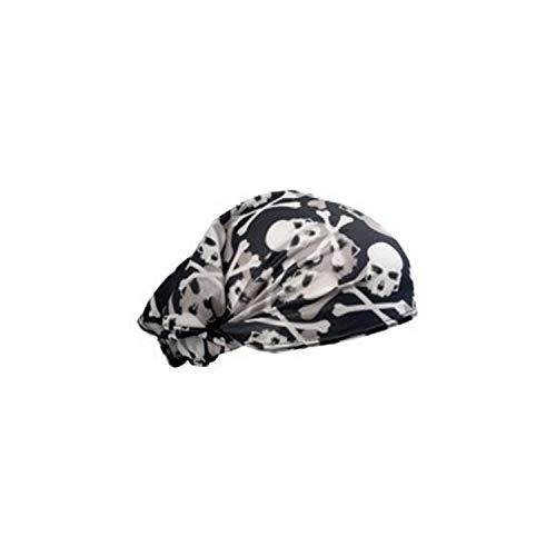 (Schampa Technical New Skull & Crossbone Doo-Z Bandana Headwrap, 14-1247, DZ01-70)
