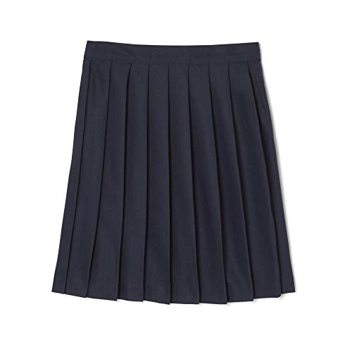 (French Toast Big Girls' Pleated Skirt, Navy,)