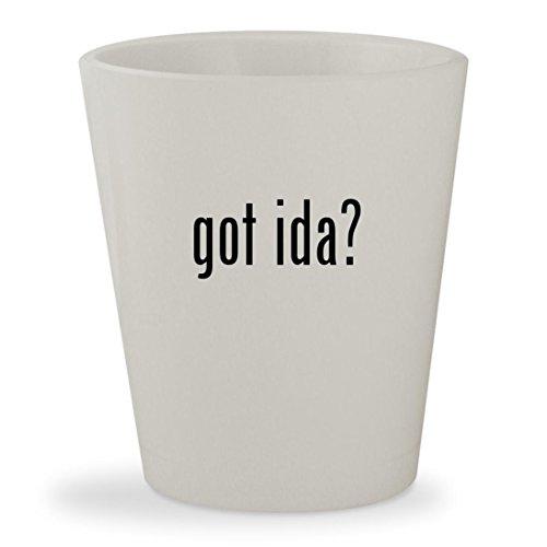 got ida? - White Ceramic 1.5oz Shot - Online Glasses Rolf