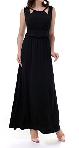 Floor Girl's Deodar Neck Women's Length Boat Ball Derss Gowns Prom Black UZw5I5