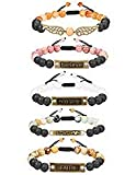 Finrezio 5 PCS Bead Bracelets for Women Aromatherapy Essential Oil Diffuser Natural Lave Rock Stone...