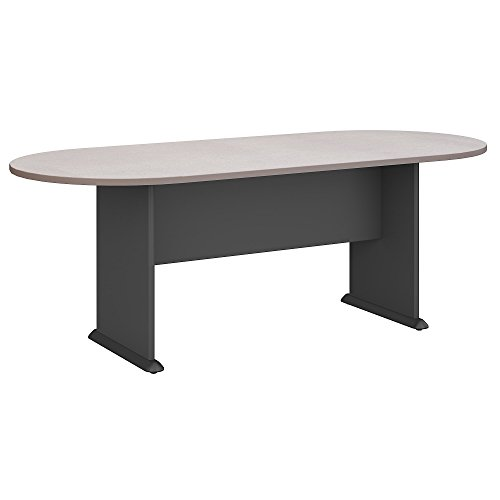 - Bush Business Furniture Series A & C 82W x 35D Racetrack Oval Conference Table in Pewter