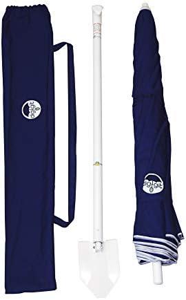 dig-git Beach Umbrella w Integrated Anchor – Navy Blue