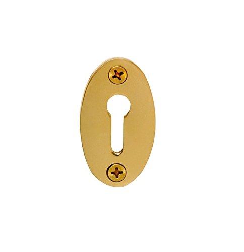 Brass Keyhole Cover (Nostalgic Warehouse Classic Keyhole Cover, Polished Brass)