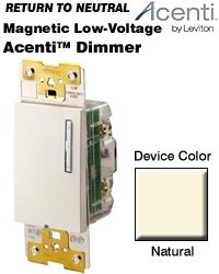 Leviton ACM06-1LA Dimmer Switch, 450W Acenti Digital Incandescent Dimmer, 3-Way - ()